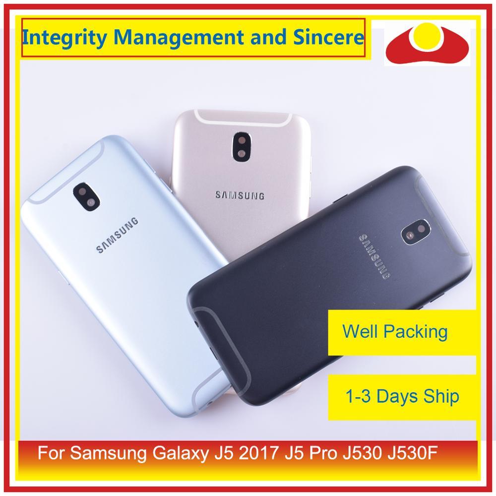 10 unids/lote para Samsung Galaxy J5 Pro 2017 J530 J530F SM-J530F J530FM carcasa de la batería marco de la puerta trasera carcasa del chasis