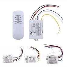1/2/3 maneiras sem fio ligar/desligar lâmpada interruptor de controle remoto receptor transmissor 220 v