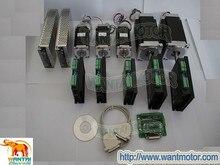 훌륭한 CNC! Wantai 5 축 스테퍼 모터 425oz-in & 1090oz-in 유니 폴라 + 드라이버 dq860ma & dq542ma cnc 라우터 그라인드 폼 밀 기계