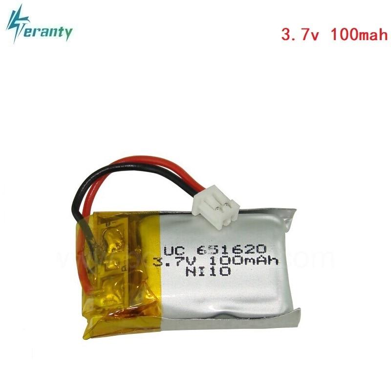 3,7 В 100 мАч/120 мАч 20c для Cheerson CX10, CX-10, Радиоуправляемый вертолет/Радиоуправляемый квадрокоптер, 3,7 В, 100 мА/ч, литий-полимерная батарея, 651620, 1,25 мм разъем