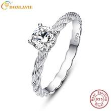 BONLAVIE Hemp Rope Shape Wedding Band Ring 925 Sterling Silver Jewelry Silver Jewelry Chinese Market Online