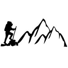 CK2917#23.4*10cm Climbing The mountains. Vertex conqueror funny car sticker vinyl decal silver/black car auto stickers