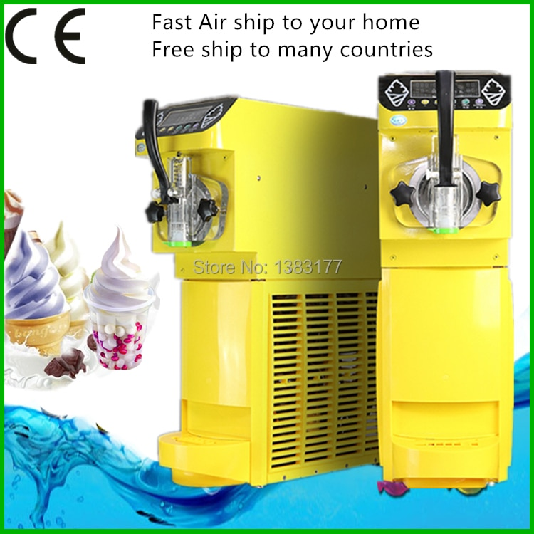 Mini heladera comercial 18L/h máquina de helado suave hacer helado 110 ~ 220 V/500 W 0.4HP compresor