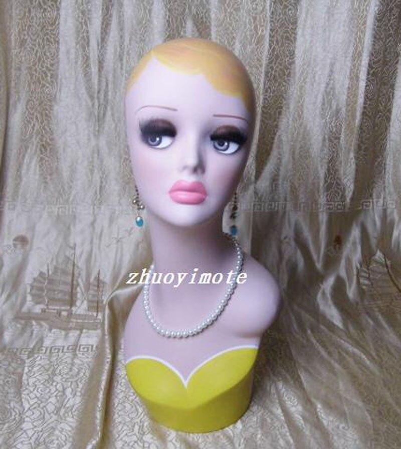 Nuevas pelucas para cabezas de maniquí para mujeres, gorras, gorras, auriculares, modelo maniquí para exhibición de cabello, soporte de exhibición de joyería para mujeres ZYGril2