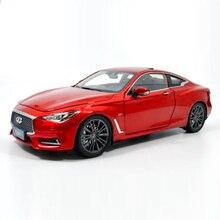 118 Diecast Model Voor Infiniti Q60 2018 Rode Coupe Legering Speelgoed Auto Miniatuur Collection Gift G37