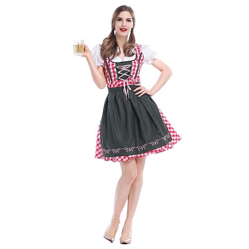 Adulte femmes Oktoberfest Dirndl bière fille femme de chambre tenue bavière Festival fête Costume