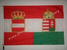 Bandera de la guerra de Austria-Hungría (1918) 150X90cm (3x5FT) 120g 100D poliéster cosido doble de alta calidad envío gratis