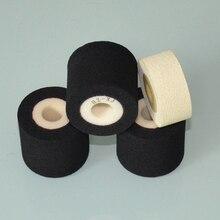 Machine à sceller, diamètre noir, 36mm, hauteur, machine à emballer, rouleaux dencre chaude, fournisseurs de rouleaux pour machine à sceller, 16mm