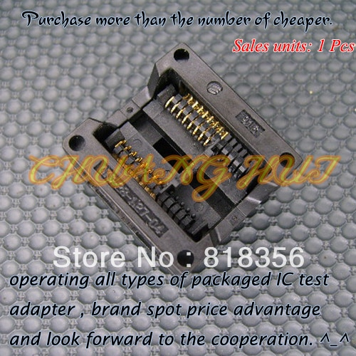 купить 300mil SOP16/SOIC16  IC Test Socket / Programmer Adapter / Burn-in Socket  1.27mm Pitch(OTS-28-1.27-04) в интернет-магазине