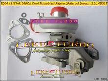 Turbocompresseur refroidi à lhuile TD04 49177-01501   Turbo pour Mitsubishi Pajero I 4917701501-90 II 90-91, Shogun 84-91 4D56 4D56T 2,5l