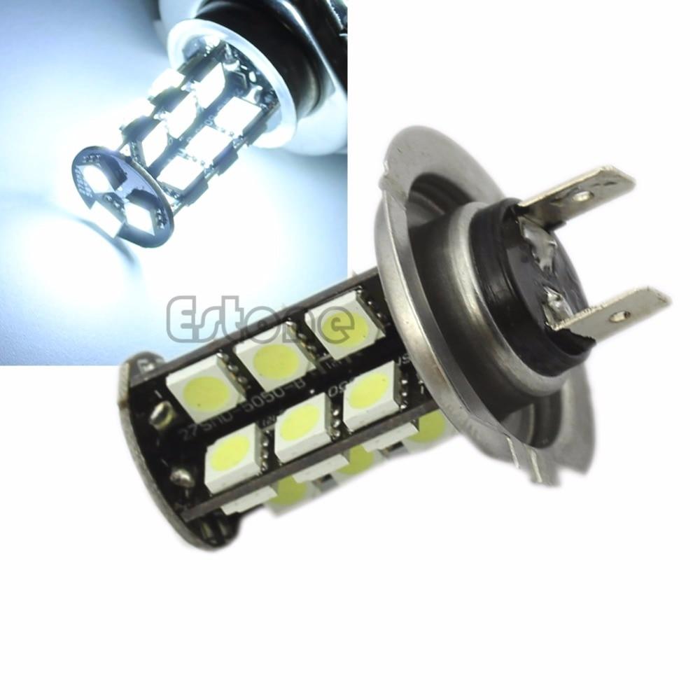 Bombilla de luz antiniebla blanca HNGCHOIGE H7 de 27 LEDs CANBUS sin errores, Bombilla trasera de reserva de 12V