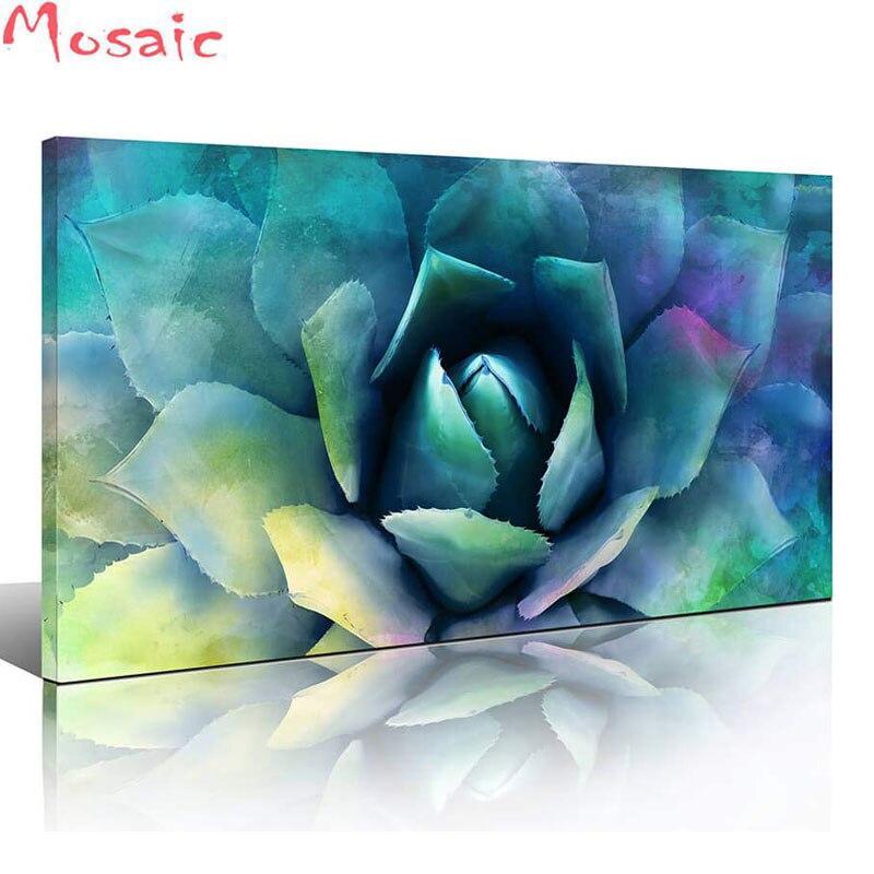 5D DIY Diamond painting Green succulent  Plant full Square round Diamond embroidery Cross stitch picture Rhinestone Mosaic Paint