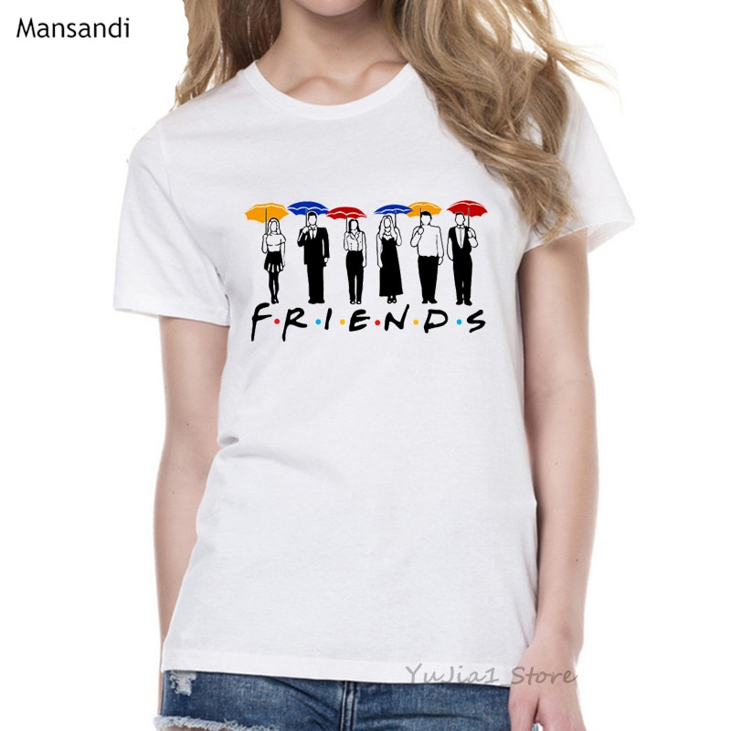 Melhor amigos t camisa femme amigos tv mostrar tshirt feminino camiseta camisa mujer tumblr roupas gráficas tees das mulheres 90s topos