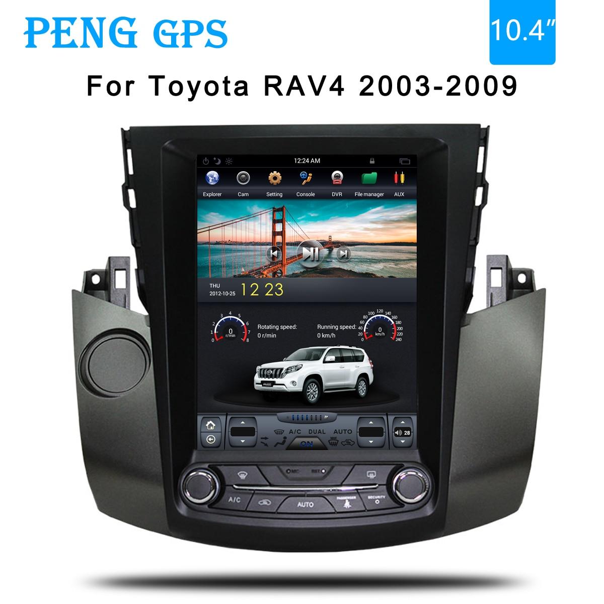 Tesla-voiture de style Toyota RAV4 4   Navigation GPS, pour Toyota RAV4 2003 2004 2005 2006 2007 2008 2009, headunit radio multimédia, lecteur sans DVD 4K
