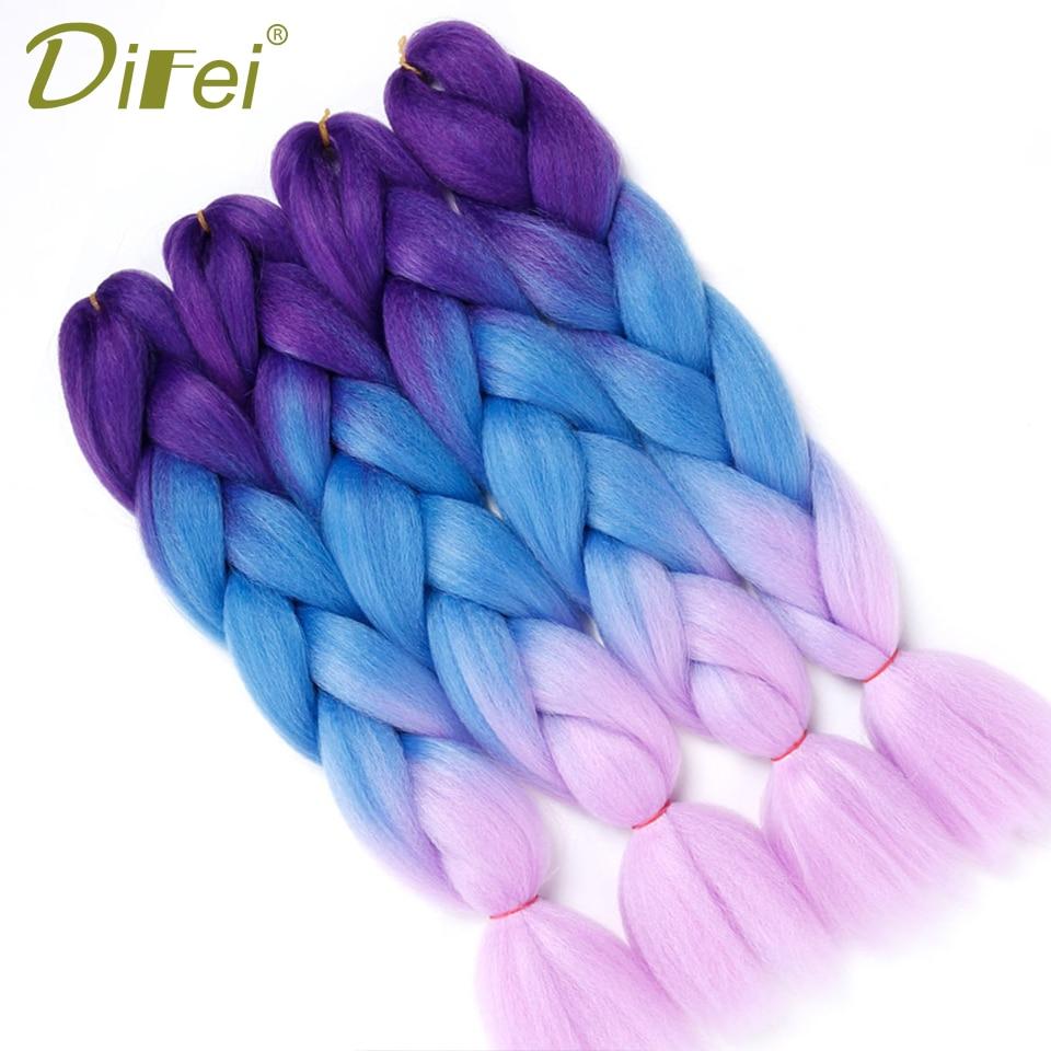 Difei ломбер Моноволокно джамбо плетение волос 1 шт. 24 дюймов химическое крючком