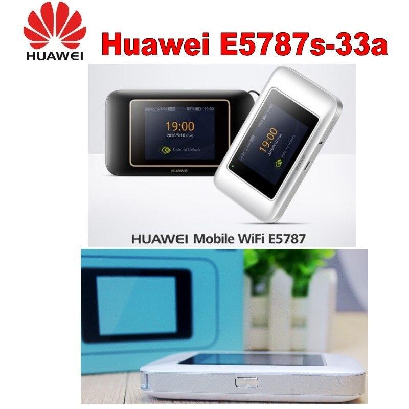 Desbloqueado Huawei E5787 LTE Cat6 300Mbps móvil WiFi Hotspot 3000mAh batería de la batería móvil LTE Router 4G portátil Router