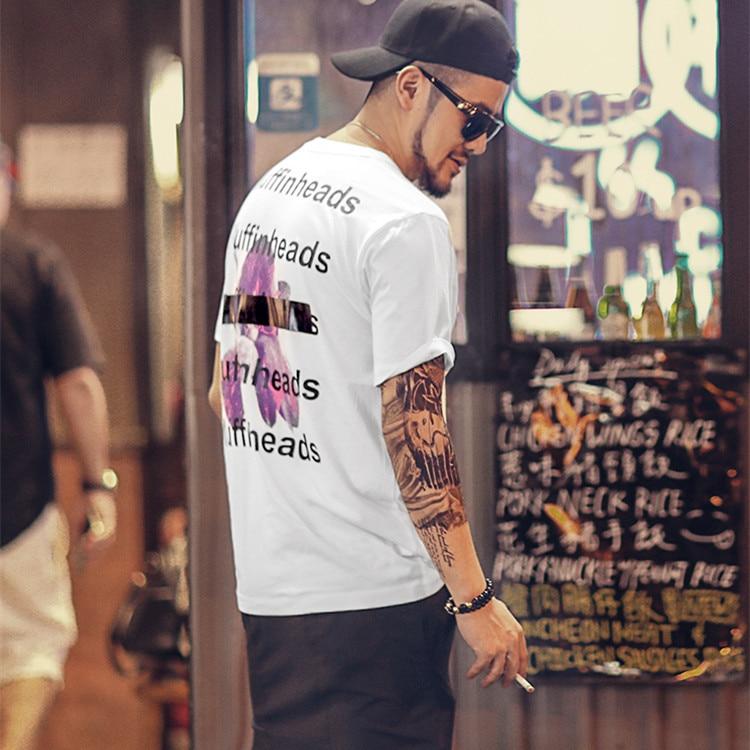 Nueva camiseta blanca larga para hombre, ropa informal estilo hip hop, camiseta Extra larga T985