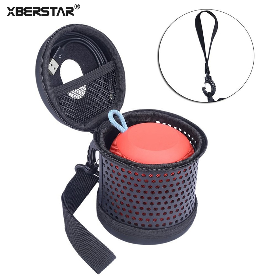Travel Case for Logitech Ultimate Ears UE WONDERBOOM Bluetooth Speaker PU Leather Bag