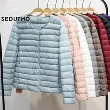 SEDUTMO Winter Plus Size 4XL Womens Donsjack Ultra Light Duck Down Jas Korte Herfst Slanke Korte Puffer Jas ED617