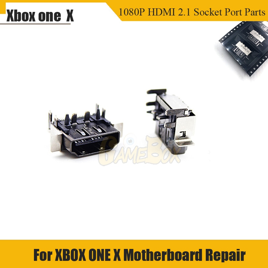 Original nuevo 1080 P HDMI 2,1 Puerto conector piezas reemplazo para XBOX ONE X placa base reparación
