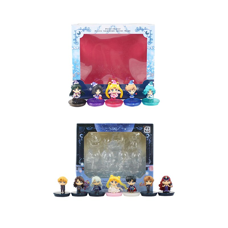 4cm 7 unids/lote o 5 unids/lote o 2 set/lote sailor moon MODELO DE figura de acción de juguete Tsukino Usagi Sailor Moon Chiba Mamoru figura bonita de juguete