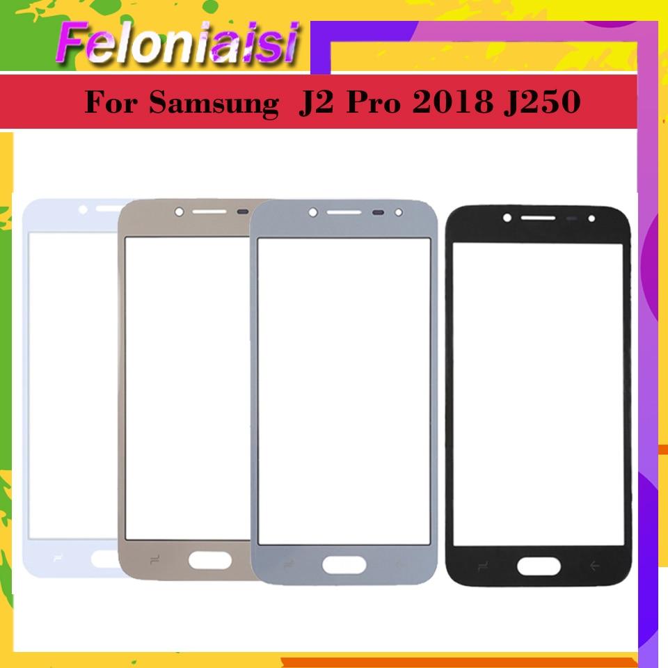 10pcs  lot pantalla táctil exterior Panel de vidrio frontal para Samsung Galaxy J2 Pro 2018 J250 J250M J250G Grand Prime lente exterior Pro LCD