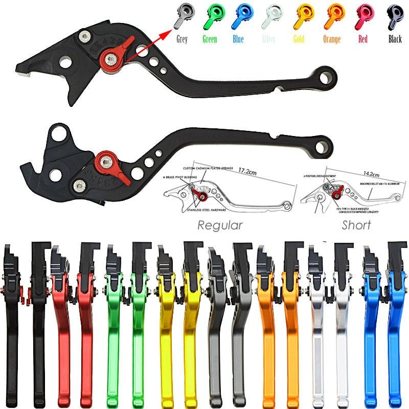 Short & Long Para Kawasaki ZZR600 Z1000 2003 2004 2005 2006 2005 2006 2007 2008 2009 Da Motocicleta CNC Ajustável Freio alavancas de embreagem