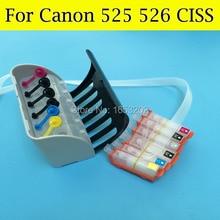 6 Color/Set Ciss System For Canon PGI-525 CLI-526 For Canon PIXMA MG6250 MG8520 MG8150 MG6150 Printer With PGI525 CLI526 ARC