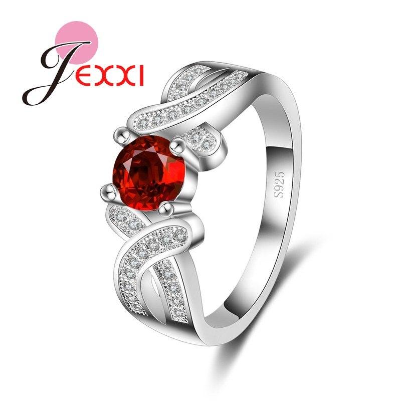 Envío Gratis, venta al por mayor, anillos de joyería de moda, Plata de Ley 925, anillos de boda con incrustaciones cruzadas de diamantes de imitación para mujer