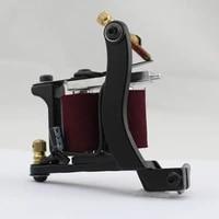 uptatsupply black coil machine tattoo machine 10 wrap coil tattoo gun beautifully carved shader liner free shipping nm013