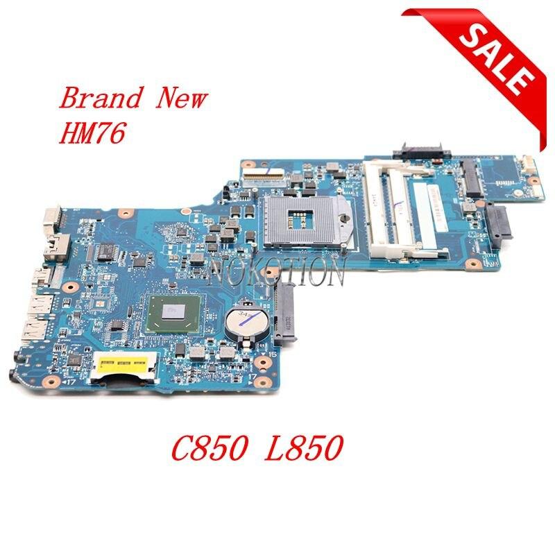 NOKOTION Laptop motherboard für Toshiba C850 C855 L850 HM76 DDR3 H000038380 PLF PLR CSF CSR DCS MB REV-2.1 mainboard