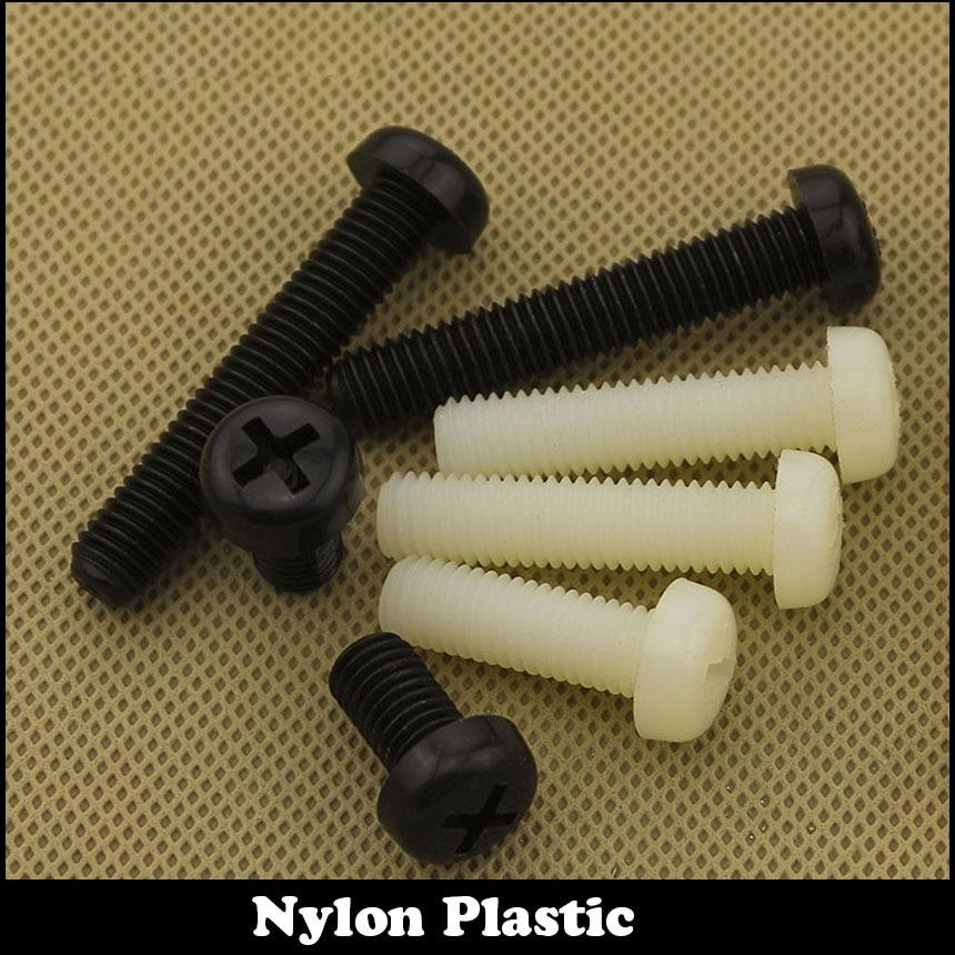 M6 m6 * 8/10/12/16 m6x8/10/12/16 branco preto náilon plástico parafuso de isolamento philips cruz recessed plana redonda pan cabeça parafuso