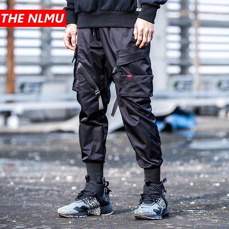Pantalones Harem de diseño de cintura elástica con múltiples bolsillos para hombre ropa de calle Punk Hip Hop pantalones casuales pantalón de baile para hombre WG250