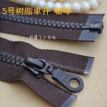 Ykk-reißverschluss 5 harz einzigen offenen zipper braun 35-70 cm weiß-kleidung strickjacke unten kleidung mantel knopfleiste