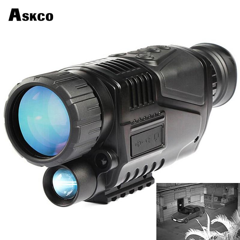 Монокуляр 5X40 ночного видения Инфракрасный цифровой прицел для охоты телескоп с встроенной камерой Съемка фото запись видео