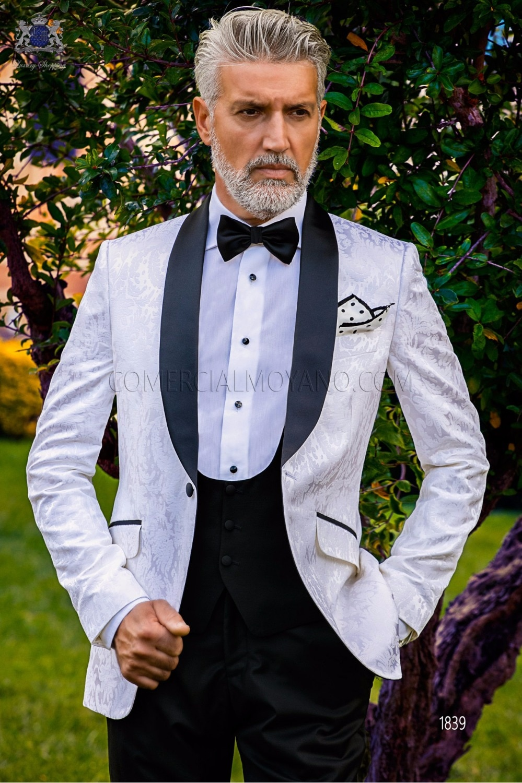New Arrival Jacquard Groomsmen Shawl Lapel Groom Tuxedos Men Suits Wedding/Prom Best Man Blazer ( Jacket+Pants+Vest+Tie) A46