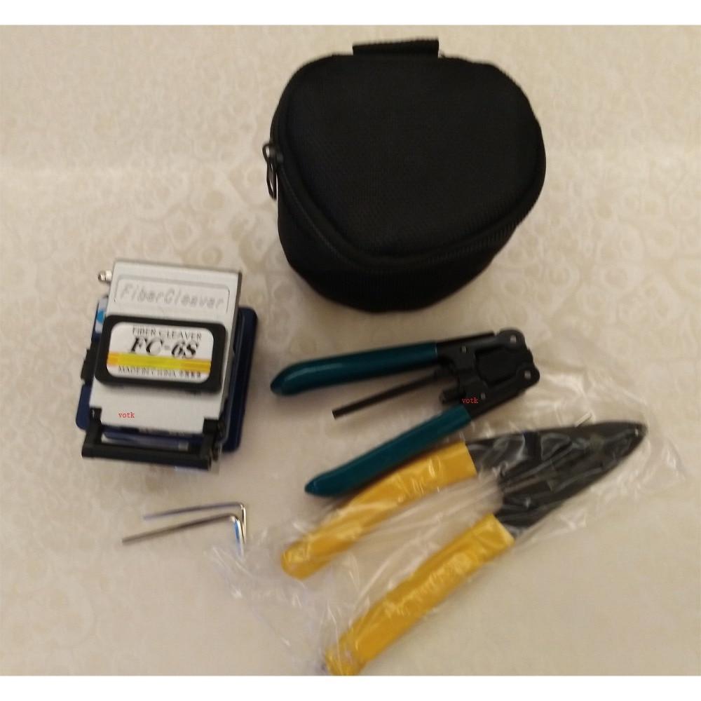Cabo de fibra FTTH Optical Fiber Cleaver 7in1 ferramentas de corte com caixa de resíduos CFS-2 Moleiro alicate de stripper cabo