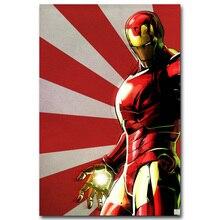 Affiche Iron Man super héros artistique en soie   Imprimé, 13x20 24x36 pouces, photos de film, pour salle de séjour, décoration murale, Robert Downey Jr 04