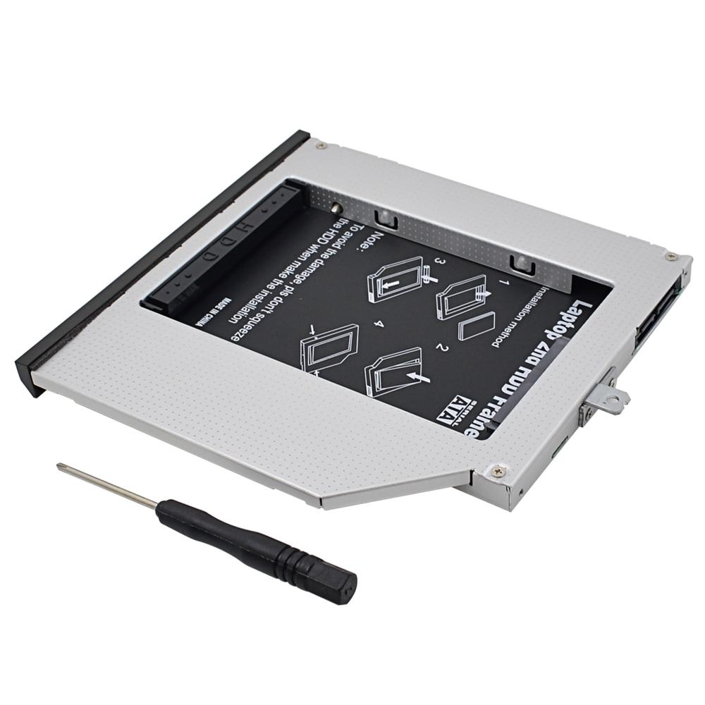 "2016 Nuevo 2nd HDD Caddy 9,5mm 2,5 ""SATA 3,0 SSD carcasa de disco duro para Lenovo ThinkPad T440P T540P W540 CD/DVD-ROM"