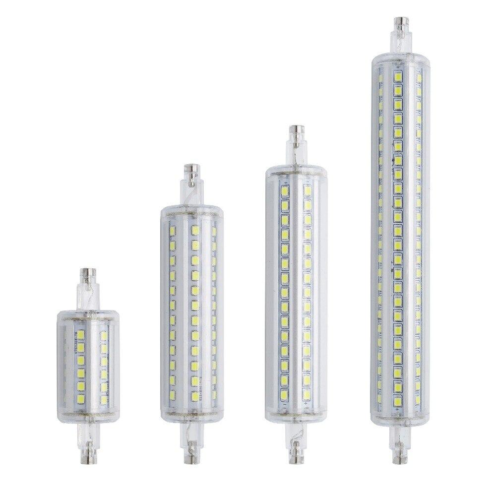 Lámparas regulables R7S LED maíz 78mm 118mm 135mm 189mm luz 2835 SMD bombilla 7W 14W 20W 25W reemplazar Bombillas halógenas