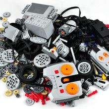 Technic Parts Building Blocks Compatible Power Functions Tool Beam Gears Cross Axle Rack Panel Train Motor Model Sets Moc Toys