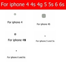 Home button metal Gasket for iphone 4 4S 4g 5 5s 6 6s home button samll metal between in flex and ga