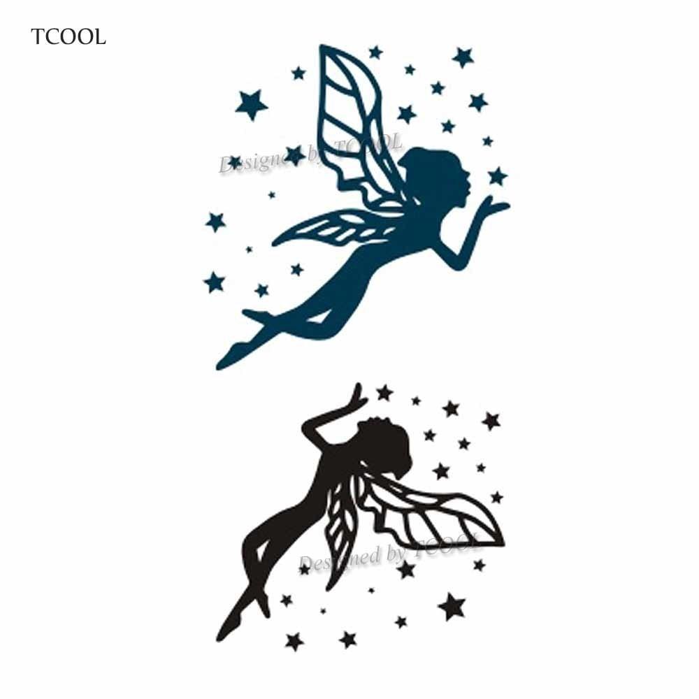 HXMAN Butterfly Fairy Women Temporary Tattoo Sticker Waterproof Fashion Fake Body Art Arm Tattoos 10.5X6cm Kids Hand Tatoo A-041