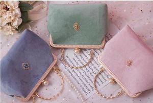 Angelatracy 2021 Velour Court Vintage Diamond Velvet Pearl Chain Woman Shoulder Bag Clasp Lady Messenger Bag Crossbody Hand Bags