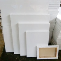 AHSNME באיכות גבוהה אורן פנימי מסגרת לבן ריק כיכר אמן בד עץ לוח מסגרת עבור דרוך שמן אקריליק צבע 40x50cm