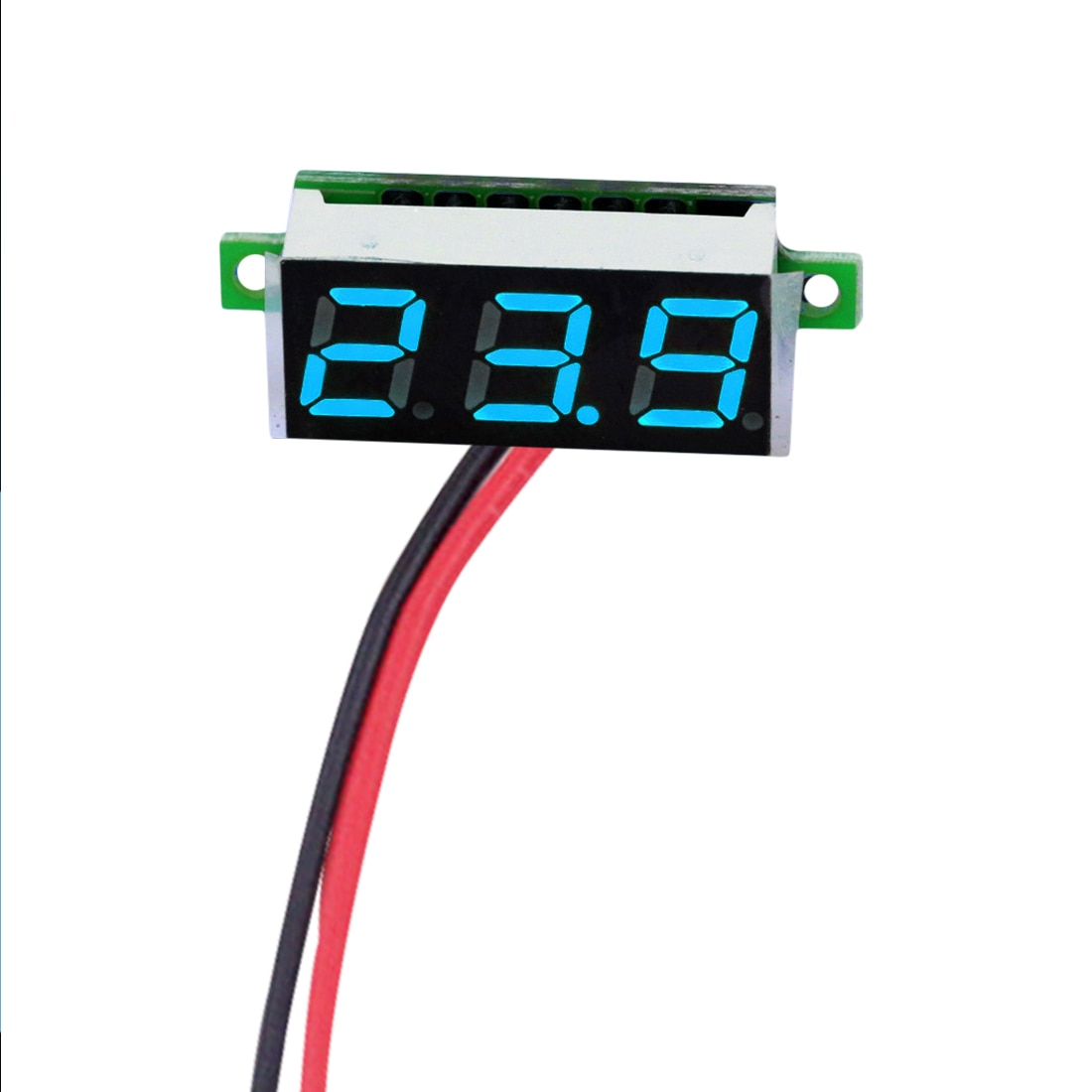 Mini voltímetro Digital medidor de voltaje 0,28 pulgadas 2,5 V-30V pantalla LED partes electrónicas accesorios voltímetro Digital