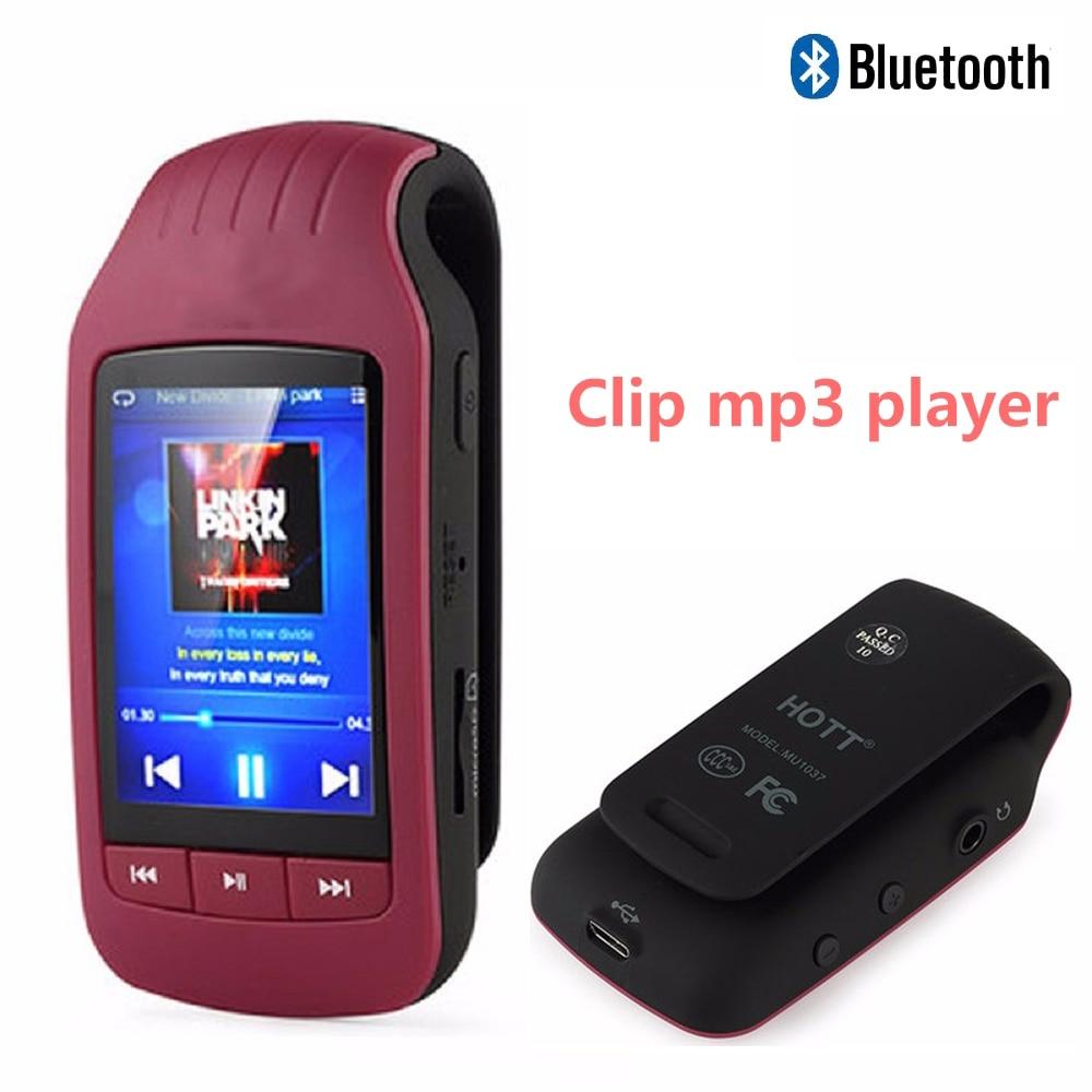 Mini Clip MP3 1037 New Portable MP3 Player 8GB Sport Pedometer Bluetooth mp3 music player FM Radio TF Card 1.8 Screen Stopwatch