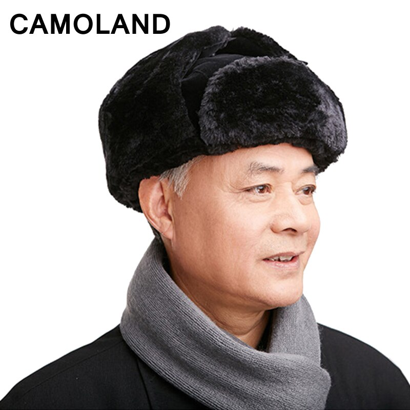 Папа шляпа куртка бомбер Шапки для старика Для мужчин зимние советский gorro защита
