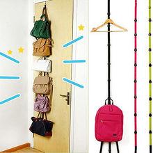 Popular Adjustable Over Door Straps Hanger Hat Bag Coat Clothes Rack Hooks