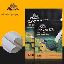 Peinture à lhuile dessin papier livre pigment acrylique 10 pages croquis pratique plaque 9x12 12x16 taille 100% coton toile pad